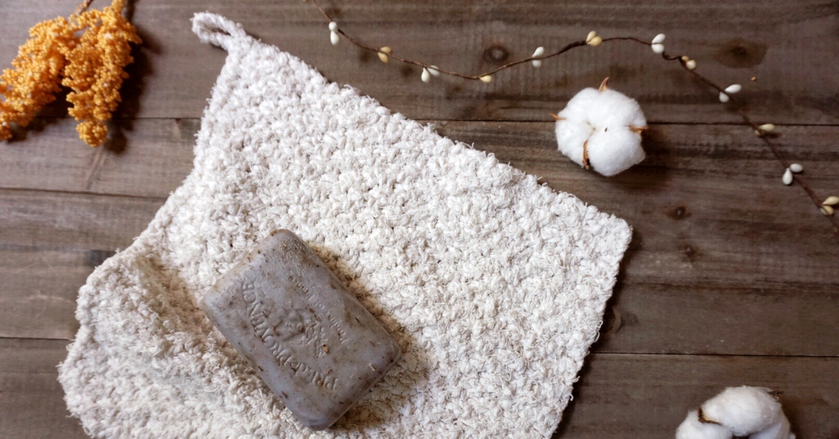 free knit pattern easy beginner washcloth featured image