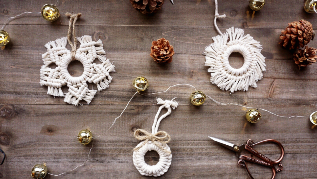 macrame ornaments collection