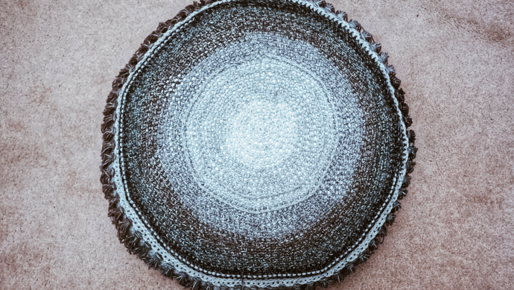 ombre floor cushion overview
